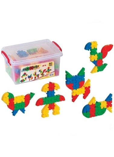 Dede Smart Blocks 80 Parçalı Eğitici Lego Seti - Saklama Kutulu Renkli